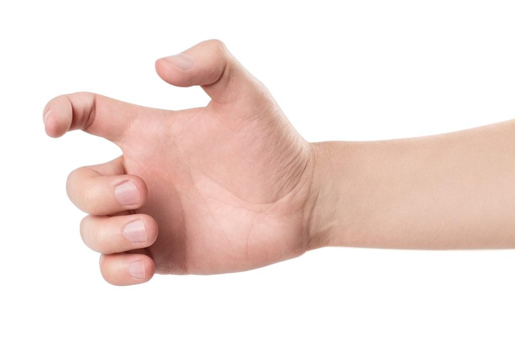 Palec zatrzaskujący lub strzelający